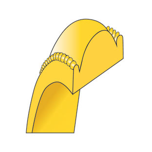 6mm half round milgrain edge lightweight wedding band in