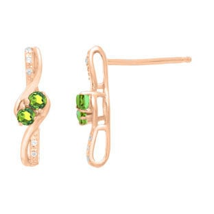 house husar x oval style diamonds s earrings white gold fine of jewelry stud peridot stone