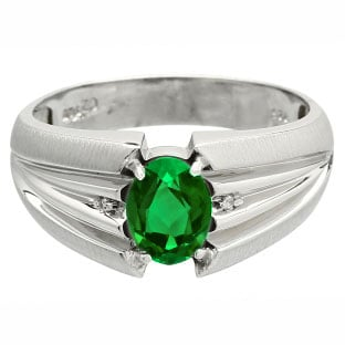 s emerald ring white gold jewelry