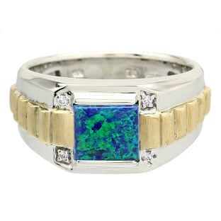 Men39s opal rings opal rings for men men39s opal rings for Mens wedding rings with birthstones