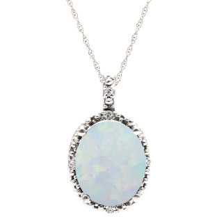 Simple oval cut opal diamond sterling silver pendant for women simple oval cut opal diamond sterling silver pendant for women aloadofball Images