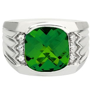 large s cushion cut emerald white gold ring