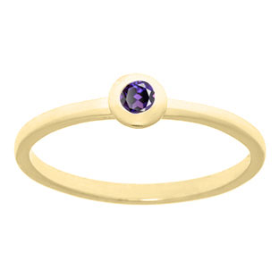 Create Your Personalized Birthstone Stackable Ring Set In Yellow Gold