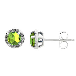 jewelry stone cz birthstone for peridot gold dp set com necklace women green pendant earrings gifts amazon handmade