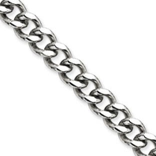 Men's Curb Link Stainless Steel 9.5MM Chain Necklace Jewelry