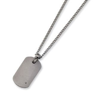 Mens titanium dog tag diamond pendant necklace jewelry mens titanium dog tag diamond pendant necklace jewelry mozeypictures Images