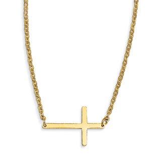 Sideways Cross Necklaces Sideways Cross Pendant Horizontal