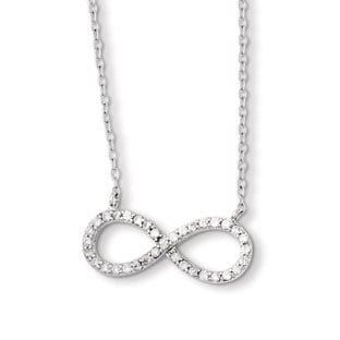 Infinity Pendants - Sterling Silver CZ Infinity Pendant