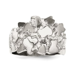 Nugget Ring - Men's Nugget Ring In Sterling Silver