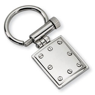 Men's Stainless Steel Screwhead Keychain Ring Jewelry