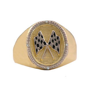 Racing Rings - Men's Diamond and Gold Racing Ring