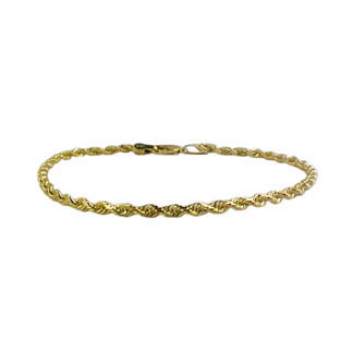 Diamond Cut Rope Chains, 14K Gold Bracelet