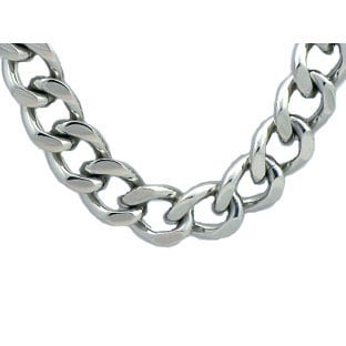 Stainless Steel Men's Cuban Link Chain Necklace