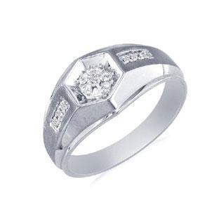 mens promise ring white gold diamond promise mens ring