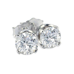 1 4ct Diamond Stud Earrings In 14k White Gold 150 00