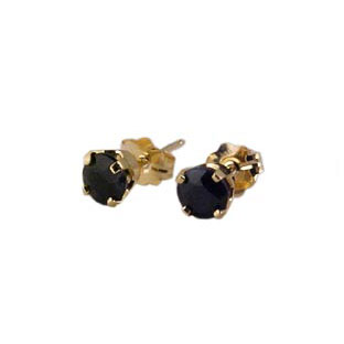 14K Gold Sapphire Stud Earrings