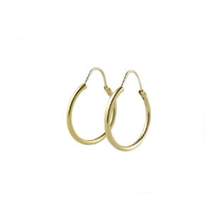 Gold Hoop Earrings, 14K Gold Jewelry