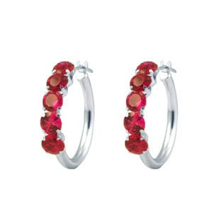 Ruby Earrings Stud Hoop From Gemologica A Fine Online Jewelry