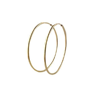 Big Gold Hoop Earrings, 14K Gold Jewelry