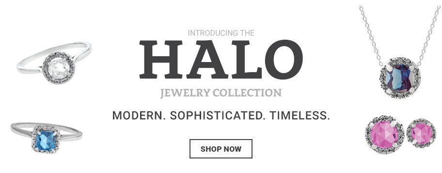 Halo Jewelry Halo Rings Halo Pendants Necklaces Earrings