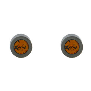 Child's Birthstone 4MM Citrine Titanium Stud Earrings